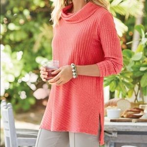 SOFT SURROUNDINGS Tressa Tunic with Cowl neck